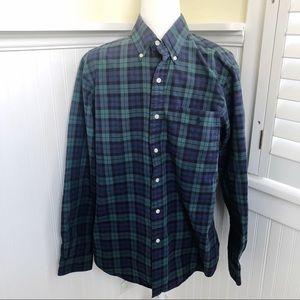 Ralph Lauren Blue & Green Plaid Button-Up Shirt